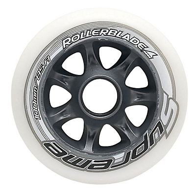 Rollerblade Supreme 100mm 85A Inline Skate Wheels - 8 Pack 2017, , viewer
