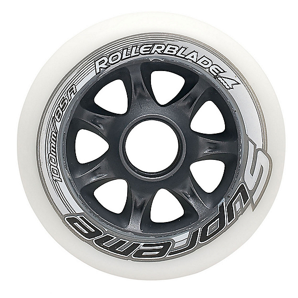 Rollerblade Supreme 100mm 85A Inline Skate Wheels - 8 Pack 2017, , 600