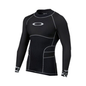 Oakley Blade Compression Top Mens Rash Guard, Jet Black, medium