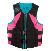 Hyperlite Indy Neo Womens Life Vest 2017, Pink-Aqua, medium