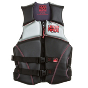 Liquid Force Reflex Adult Life Vest, Black-Red, medium