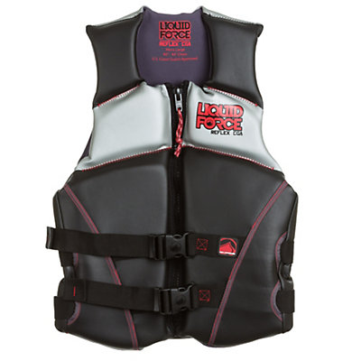 Liquid Force Reflex Adult Life Vest, Black-Orange, viewer