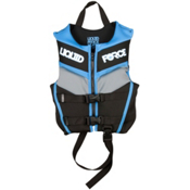 Liquid Force Fury Child Neo Toddler Life Vest 2014, Black-Blue, medium