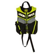 Liquid Force Fury Toddler Life Vest 2016, Black-Green, medium