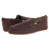 Sanuk Commodore Mens Shoes, Dark Brown, medium