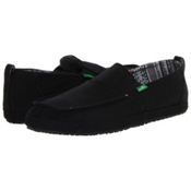 Sanuk Commodore Mens Shoes, Black, medium