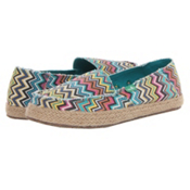 Sanuk Funky Fiona Womens Shoes, Peacock Multi, medium