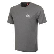 Quiksilver Flagship Short Sleeve Mens Rash Guard, Gray, medium