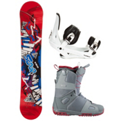 Black Fire Scoop Rocker Complete Snowboard Package, , medium
