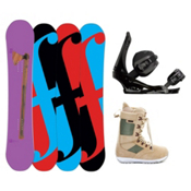 Forum Holy Moly II Complete Snowboard Package, 158cm, medium