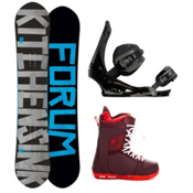 Forum The Kitchen Sink Complete Snowboard Package, 154cm, medium