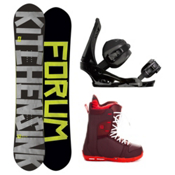 Forum The Kitchen Sink Complete Snowboard Package, 157cm, medium