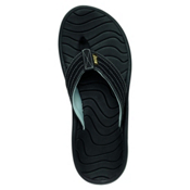 Reef Swellular Cushion Lux Mens Flip Flops, Black, medium