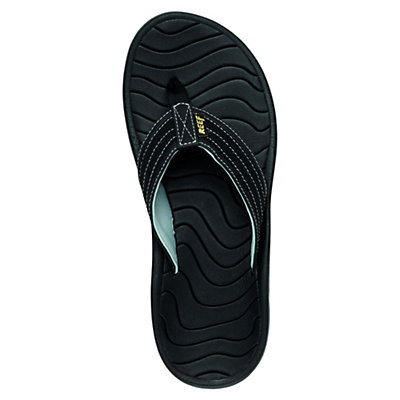 Reef Swellular Cushion Lux Mens Flip Flops, Black, viewer