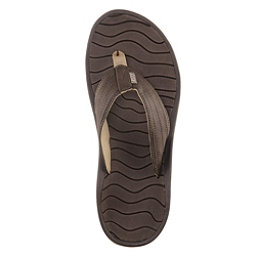 Reef Swellular Cushion Lux Mens Flip Flops, Brown-Gum, 256