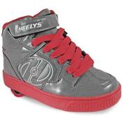 Heelys Fly Holiday, Gray-Red Patent, medium