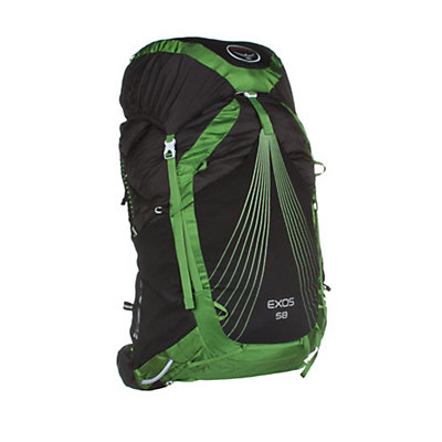 Osprey Exos 58 Backpack, Basalt Black, viewer