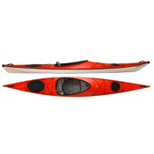 Hurricane Tampico 140 L Light Touring Kayak, Red, medium
