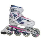 Roces Flos Womens Inline Skates, White-Blue-Pink, medium