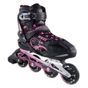 Roces Flos Womens Inline Skates, Black-Pink, medium