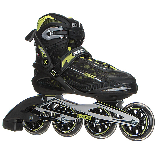 Roces Xenon Inline Skates, Black-Acid Green, 600