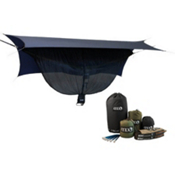 ENO One Link with Double Nest Hammock, Navy-Olive, medium