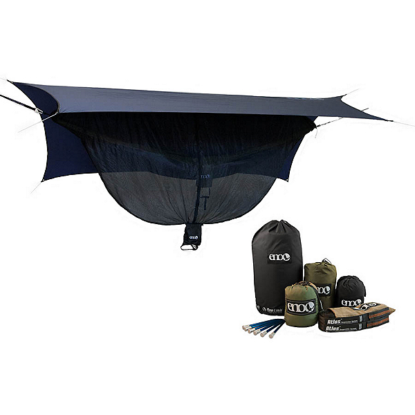 ENO One Link with Double Nest Hammock, Navy-Olive, 600
