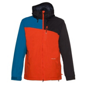 Volcom Shadow Mens Insulated Snowboard Jacket, Orange, medium