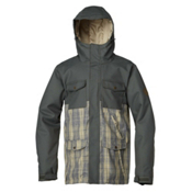Quiksilver Reply Mens Insulated Snowboard Jacket, Slate Green-Climbing Ivy, medium