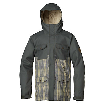 Quiksilver Reply Mens Insulated Snowboard Jacket, Anthracite, viewer