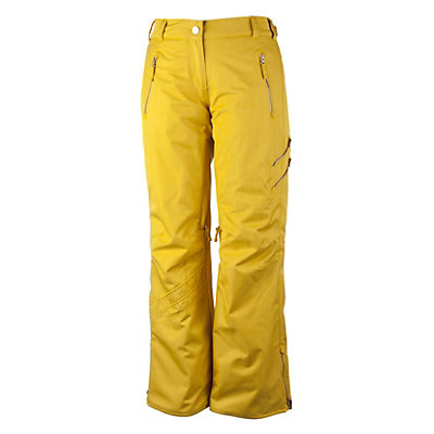 Obermeyer Delia Womens Ski Pants, Chartreuse, viewer