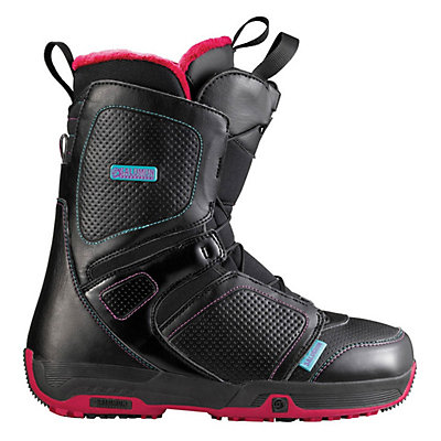 Salomon Pearl Womens Snowboard Boots, Black-Red-Black, viewer