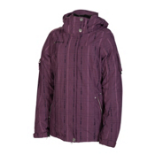 686 Ribbon Womens Insulated Snowboard Jacket, Plum, medium