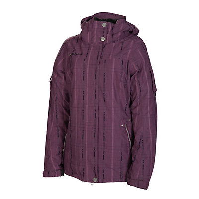 686 Ribbon Womens Insulated Snowboard Jacket, Plum, viewer