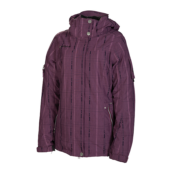 686 Ribbon Womens Insulated Snowboard Jacket, Plum, 600