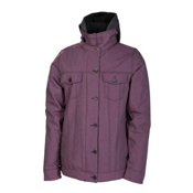686 Reserved City Womens Insulated Snowboard Jacket, Plum Twill Denim, medium
