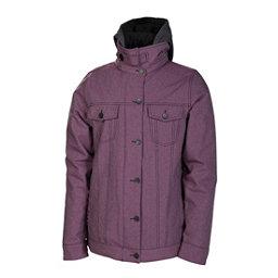 686 Reserved City Womens Insulated Snowboard Jacket, Plum Twill Denim, 256