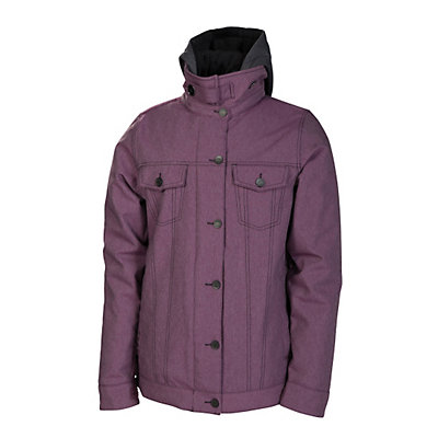 686 Reserved City Womens Insulated Snowboard Jacket, Ink Twill Denim, viewer