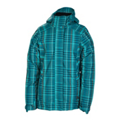 686 Reserved Ivy Womens Insulated Snowboard Jacket, Teal Plaid, medium
