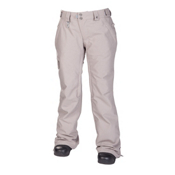 686 Reserved Mission Womens Snowboard Pants, Grey Twill Denim, medium