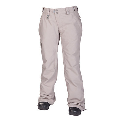 686 Reserved Mission Womens Snowboard Pants, Grey Twill Denim, viewer