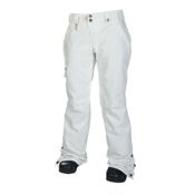 686 Reserved Mission Womens Snowboard Pants, White Twill Denim, medium