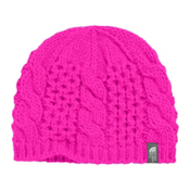 The North Face Youth Cable Minna Kids Hat, Luminous Pink, medium