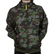 The North Face Reversible Quilted Surgent Kids Hoodie, Scallion Green Camo Print, medium