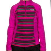 The North Face Glacier 1/4 Zip Girls Midlayer, Azalea Pink Stripe, medium