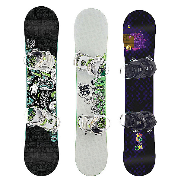 Used Premium Boys Snowboard and Binding Package, , 600