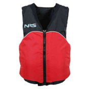 NRS Crew Universal Adult Kayak Life Jacket, Red-Black, medium
