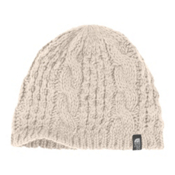 The North Face Cable Minna Beanie Womens Hat, Vintage White, medium