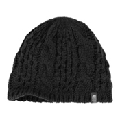 The North Face Cable Minna Beanie Womens Hat, TNF Black, medium