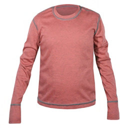 Hot Chillys Geo-Pro Crew Neck Girls Long Underwear Top, Rose Heather, 256
